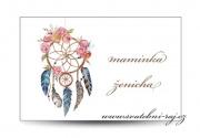 Zobrazit detail - Svatební jmenovka boho styl