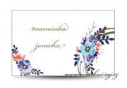 Zobrazit detail - Svatební jmenovka květinové kolo