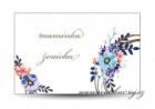 Svatební jmenovka květinové kolo