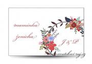 Zobrazit detail - Svatební jmenovka květinový motiv