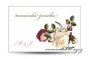 Zobrazit detail - Svatební jmenovka s květy
