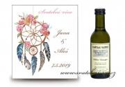 Zobrazit detail - Svatební mini víno boho styl