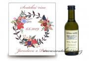 Zobrazit detail - Svatební víno květinový motiv