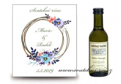 Svatební víno květinové kolo