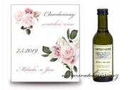 Zobrazit detail - Svatební víno s květy starorůžové