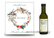Zobrazit detail - Svatební víno s peříčky a květy