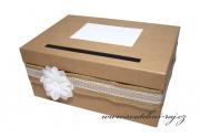 Zobrazit detail - Box na svatební blahopřání přírodní