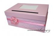 Zobrazit detail - Box na svatební blahopřání růžový