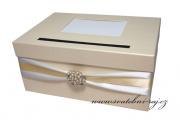 Zobrazit detail - Box na svatební blahopřání smetanový