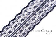 Zobrazit detail - Dekorační krajka navy blue, šíře 4,5 cm