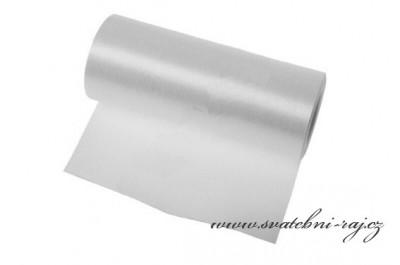 Jednostranný satén bílý, šíře 12 cm