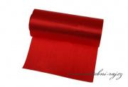 Jednostranný satén červený, šíře 12 cm
