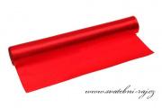 Jednostranný satén červený, šíře 36 cm