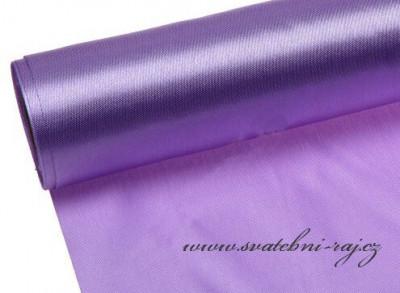 Jednostranný satén fialový, šíře 12 cm
