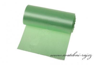 Jednostranný satén zelený, šíře 12 cm