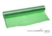 Jednostranný satén zelený, šíře 36 cm