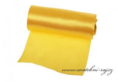 Jednostranný satén žlutý, šíře 12 cm
