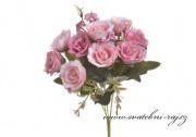 Kytice růžiček růžové