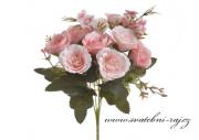 Kytice růžiček starorůžové