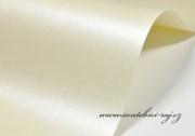 Zobrazit detail - Perleťový papír smetanový