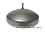 Zobrazit detail - Plovoucí svíčky metalické stříbrné - 6 ks