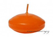 Zobrazit detail - Plovoucí svíčky oranžové - 6 ks