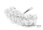 Zobrazit detail - Růžičky na drátku bílé