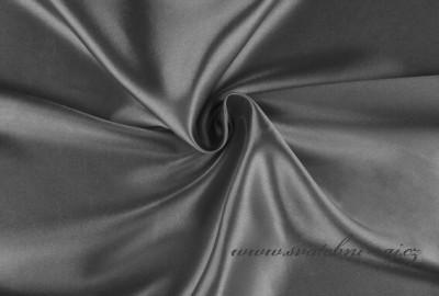 Satén šedý, 150 cm šíře
