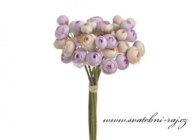 Svazek květů ranunculus fialkové