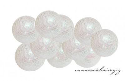 Světelný řetěz perleťový AB - 10 balónků