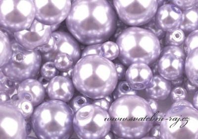Voskové perličky světle fialové