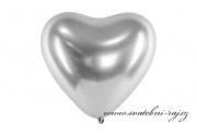 Zobrazit detail - Balónek srdce stříbrný