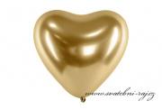 Zobrazit detail - Balónek srdce zlatý