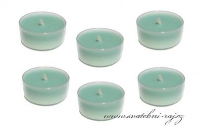 Čajové svíčky mint-green