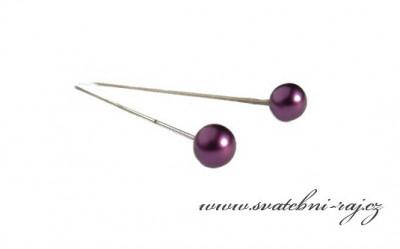 Dekorační špendlík fialový
