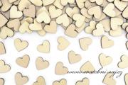 Zobrazit detail - Dřevěná srdíčka konfety