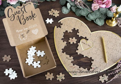 Kniha hostů srdce puzzle