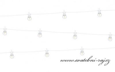 LED světelný řetěz žárovky