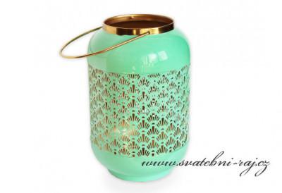 Luxusní lucerna mátová
