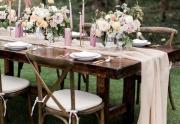 Šifónové šerpy na svatební stůl
