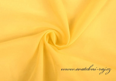 Šifonový voál žlutý