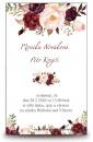 Zobrazit detail - Svatební oznámení s květy bordó