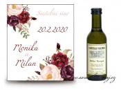 Zobrazit detail - Svatební víno s květy bordó