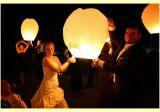 Létající lampion bílý