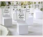 Papírová krabička židle bílá
