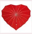 Deštník ve tvaru srdce červené