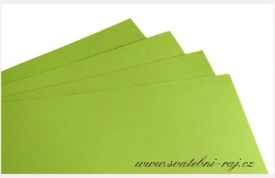 Papír jablíčkově zelený