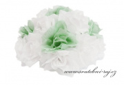 Buket z růží bílých a mint-green