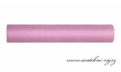 Dekorační tyl bridal rose, šíře 30 cm