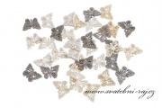 Zobrazit detail - Dřevěné konfetky motýlci